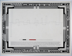 Theorie van een werkelijkheid, tekenpen o.i. inkt afm. 50x65cm.
