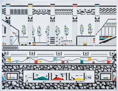 Doorzichtig verleden 5. tekenpen o.i. inkt afm. 50x65 cm.