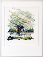 Knotwilg 't Gein Abcoude 2.  tekenpen o.i. inkt / acrylverf afm. 30x40 cm.