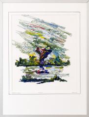 Knotwilg 't Gein Abcoude 3. tekenpen o.i. inkt / acrylverf afm. 30x40 cm.