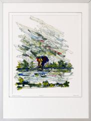 Knotwilg 't Gein Abcoude 4. tekenpen o.i. inkt / acrylverf afm. 30x40 cm.