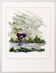 Knotwilg 't Gein Abcoude 5. tekenpen o.i. inkt / acrylverf afm. 30x40 cm.