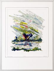 Knotwilg 't Gein Abcoude 6. tekenpen o.i. inkt / acrylverf afm. 30x40 cm.