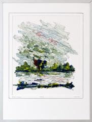 Knotwilg 't Gein Abcoude 7. tekenpen o.i. inkt / acrylverf afm. 30x40 cm.