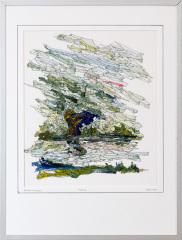 Knotwilg 't Gein Abcoude 8. tekenpen o.i. inkt / acrylverf afm. 30x40 cm.