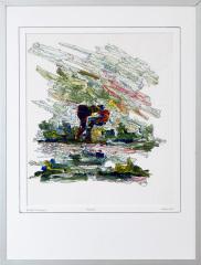 Knotwilg 't Gein Abcoude 9. tekenpen o.i. inkt / acrylverf afm. 30x40 cm.