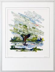 Knotwilg 't Gein Abcoude 10. tekenpen o.i. inkt / acrylverf afm. 30x40 cm.