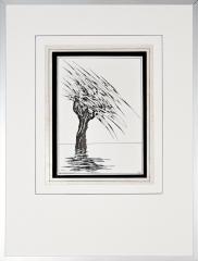 Wateroverlast Roermond (Horn) 1994 2. tekenpen o.i. inkt afm. 30x40 cm.