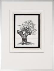 Wateroverlast Roermond (Horn) 1994 3. tekenpen o.i. inkt afm. 30x40 cm.