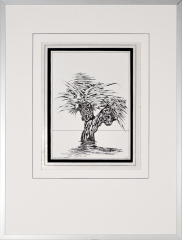 Wateroverlast Roermond (Horn) 1994 4. tekenpen o.i. inkt afm. 30x40 cm.