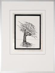 Wateroverlast Roermond (Horn) 1994 5. tekenpen o.i. inkt afm. 30x40 cm.