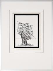 Wateroverlast Roermond (Horn) 1994 6. tekenpen o.i. inkt afm. 30x40 cm.